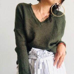 Zara Knit 🧶 Olive Sweater